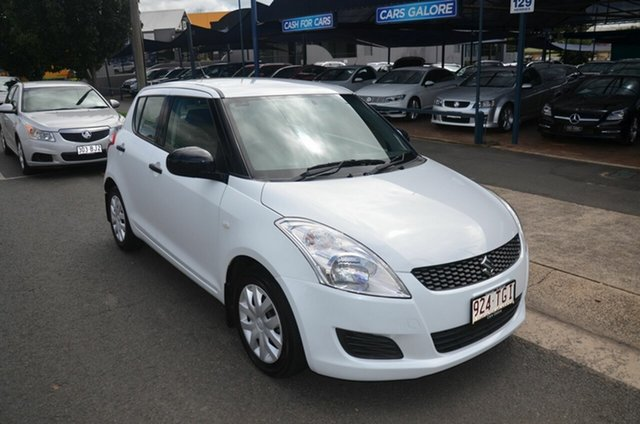 Used Suzuki Swift FZ MY13 GL Toowoomba, 2013 Suzuki Swift FZ MY13 GL White 4 Speed Automatic Hatchback
