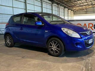 2011 Hyundai i20 PB MY11 Active Blue 5 Speed Manual Hatchback.