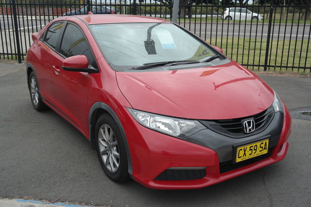 Used Honda Civic 9th Gen MY13 VTi-S Maryville, 2013 Honda Civic 9th Gen MY13 VTi-S Red 5 Speed Sports Automatic Hatchback