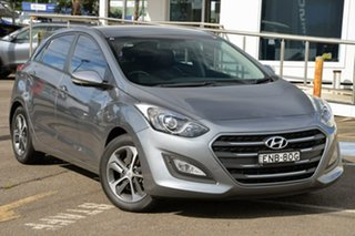 2016 Hyundai i30 GD4 Series II MY17 Active X Silver 6 Speed Manual Hatchback.