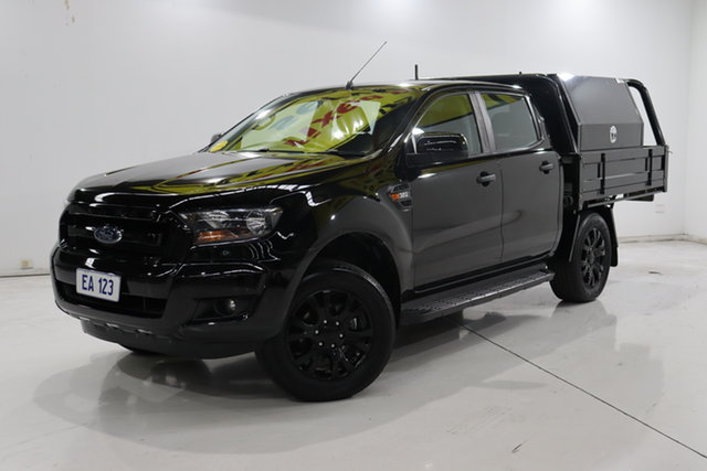 Used Ford Ranger PX MkII XLS Double Cab Brooklyn, 2017 Ford Ranger PX MkII XLS Double Cab Black/Grey 6 Speed Sports Automatic Utility