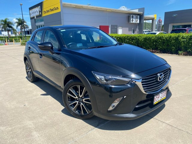 Used Mazda CX-3 DK2W76 sTouring SKYACTIV-MT Townsville, 2015 Mazda CX-3 DK2W76 sTouring SKYACTIV-MT Black/291115 6 Speed Manual Wagon