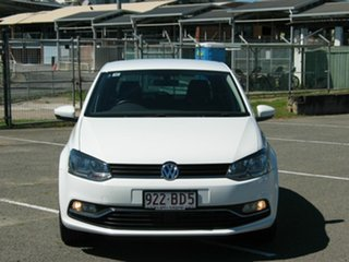 2016 Volkswagen Polo 6R MY16 81 TSI Comfortline White 6 Speed Manual Hatchback.