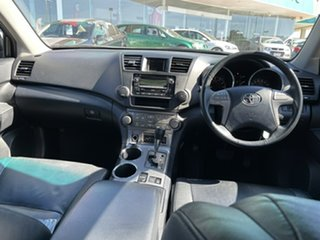 2010 Toyota Kluger GSU45R KX-S AWD Black 5 Speed Sports Automatic Wagon
