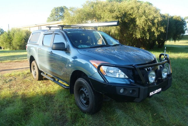 Used Mazda BT-50 UP0YF1 XT 4x2 Hi-Rider East Maitland, 2013 Mazda BT-50 UP0YF1 XT 4x2 Hi-Rider Blue 6 Speed Sports Automatic Utility