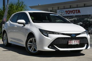 2019 Toyota Corolla ZWE211R Ascent Sport E-CVT Hybrid Glacier White 10 Speed Constant Variable.
