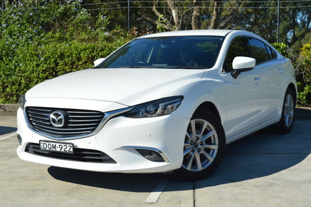 Used Mazda 6 GL1031 Touring SKYACTIV-Drive Maitland, 2017 Mazda 6 GL1031 Touring SKYACTIV-Drive White 6 Speed Sports Automatic Sedan