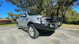 2014 Ford Ranger PX Wildtrak Double Cab Silver 6 Speed Sports Automatic Utility