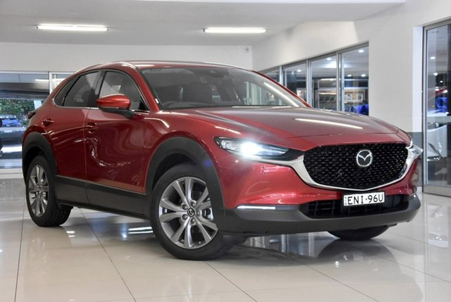 Demo Mazda CX-30 DM2WLA G25 SKYACTIV-Drive Touring Waitara, 2020 Mazda CX-30 DM2WLA G25 SKYACTIV-Drive Touring Red 6 Speed Sports Automatic Wagon