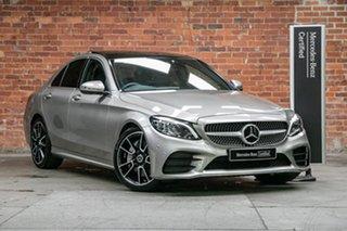 2019 Mercedes-Benz C-Class W205 809MY C300 9G-Tronic Mojave Silver 9 Speed Sports Automatic Sedan.