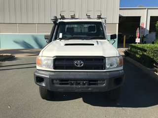 2013 Toyota Landcruiser VDJ79R MY13 Workmate French Vanilla 5 speed Manual Cab Chassis.