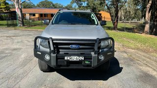 2014 Ford Ranger PX Wildtrak Double Cab Silver 6 Speed Sports Automatic Utility.