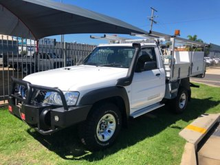 2014 Nissan Patrol MY11 Upgrade DX (4x4) White 5 Speed Manual Leaf Cab Chassis.