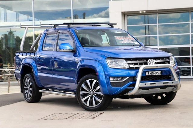 Used Volkswagen Amarok 2H MY19 TDI580 4MOTION Perm Ultimate Liverpool, 2018 Volkswagen Amarok 2H MY19 TDI580 4MOTION Perm Ultimate Ravenna Blue 8 Speed Automatic Utility