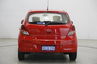 2014 Hyundai i20 PB MY15 Active Electric Red 6 Speed Manual Hatchback