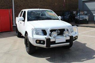 2012 Nissan Navara D40 ST (4x4) White 6 Speed Manual Dual Cab Pick-up.