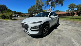 2018 Hyundai Kona OS MY18 Highlander 2WD Chalk White 6 Speed Sports Automatic Wagon