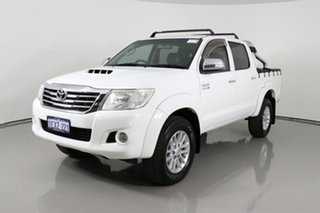 2012 Toyota Hilux KUN26R MY12 SR5 (4x4) White 4 Speed Automatic Dual Cab Pick-up.