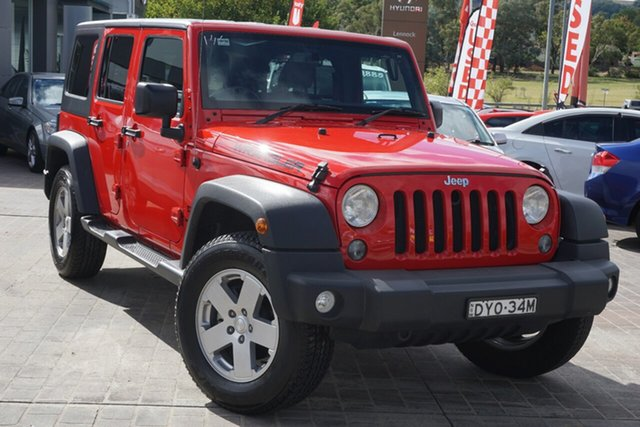 Used Jeep Wrangler JK MY18 Unlimited Sport Phillip, 2018 Jeep Wrangler JK MY18 Unlimited Sport Red 6 Speed Manual Softtop