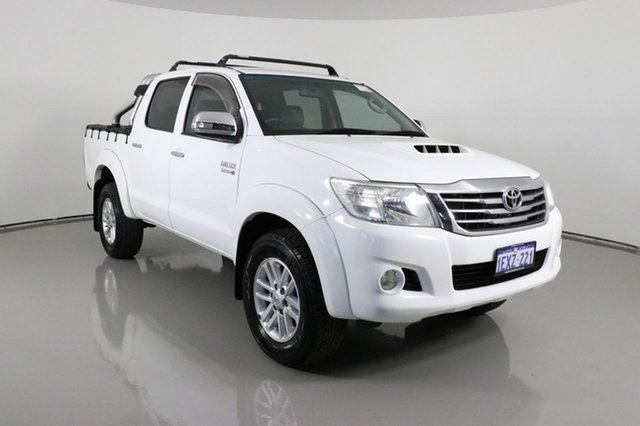 Used Toyota Hilux KUN26R MY12 SR5 (4x4) Bentley, 2012 Toyota Hilux KUN26R MY12 SR5 (4x4) White 4 Speed Automatic Dual Cab Pick-up