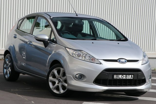 Used Ford Fiesta WS Zetec Wollongong, 2010 Ford Fiesta WS Zetec Silver 5 Speed Manual Hatchback