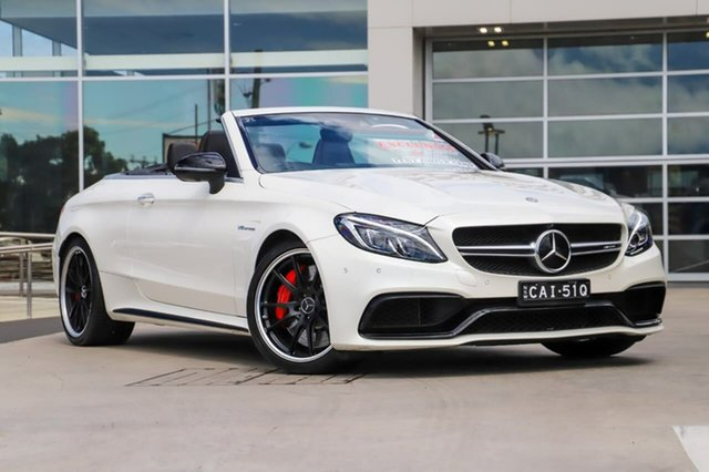 Used Mercedes-Benz C-Class A205 807+057MY C63 AMG SPEEDSHIFT MCT S Liverpool, 2017 Mercedes-Benz C-Class A205 807+057MY C63 AMG SPEEDSHIFT MCT S Diamond White 7 Speed