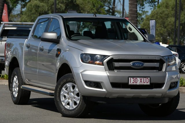 Used Ford Ranger PX MkII 2018.00MY XLS Double Cab North Lakes, 2018 Ford Ranger PX MkII 2018.00MY XLS Double Cab Silver 6 Speed Sports Automatic Utility