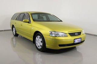 2003 Ford Falcon BA Futura (LPG) Yellow 4 Speed Auto Seq Sportshift Wagon.