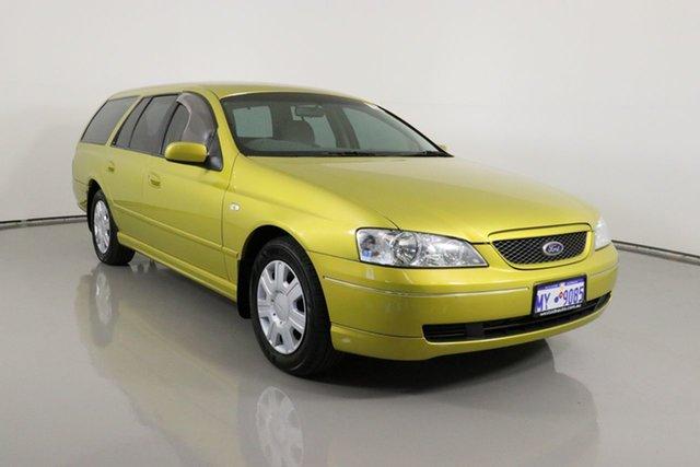 Used Ford Falcon BA Futura (LPG) Bentley, 2003 Ford Falcon BA Futura (LPG) Yellow 4 Speed Auto Seq Sportshift Wagon
