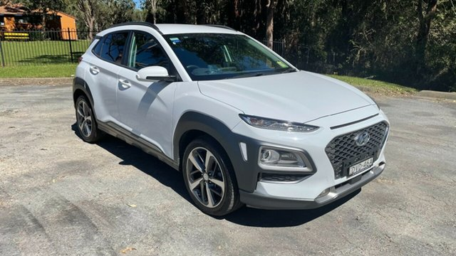 Used Hyundai Kona OS MY18 Highlander 2WD Port Macquarie, 2018 Hyundai Kona OS MY18 Highlander 2WD Chalk White 6 Speed Sports Automatic Wagon