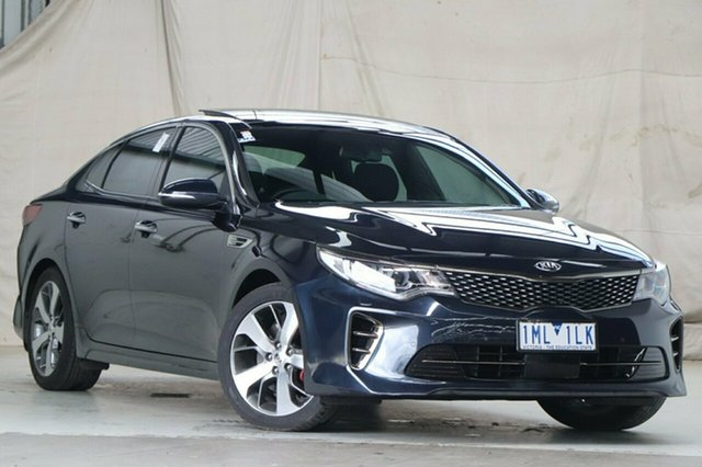 Used Kia Optima JF MY18 GT Altona North, 2018 Kia Optima JF MY18 GT Blue 6 Speed Sports Automatic Sedan