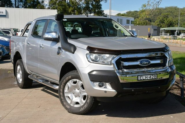 Used Ford Ranger PX MkII XLT Double Cab West Gosford, 2017 Ford Ranger PX MkII XLT Double Cab Silver 6 Speed Sports Automatic Utility