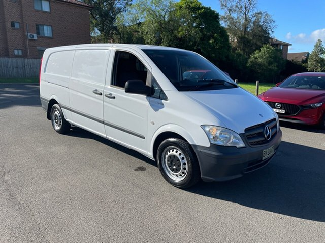 Used Mercedes-Benz Vito MY11 113CDI LWB Bankstown, 2013 Mercedes-Benz Vito MY11 113CDI LWB White 5 Speed Automatic Van