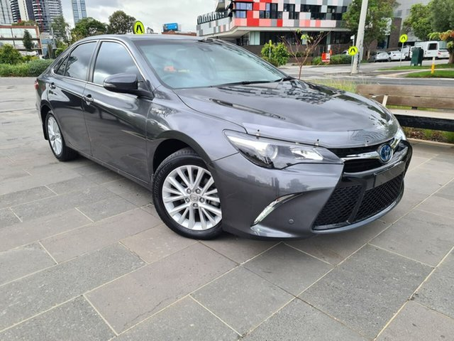 Used Toyota Camry AVV50R Atara SL South Melbourne, 2016 Toyota Camry AVV50R Atara SL Grey 1 Speed Constant Variable Sedan Hybrid