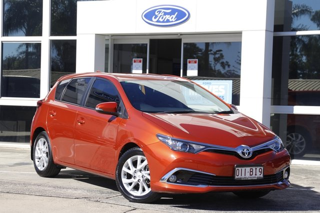 Used Toyota Corolla ZRE182R Ascent Sport S-CVT Beaudesert, 2016 Toyota Corolla ZRE182R Ascent Sport S-CVT Inferno Red 7 Speed Constant Variable Hatchback