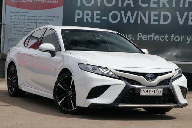 Pre-Owned Toyota Camry GSV70R SX Guildford, 2019 Toyota Camry GSV70R SX Glacier White 8 Speed Automatic Sedan
