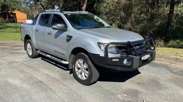 Used Ford Ranger PX Wildtrak Double Cab Port Macquarie, 2014 Ford Ranger PX Wildtrak Double Cab Silver 6 Speed Sports Automatic Utility
