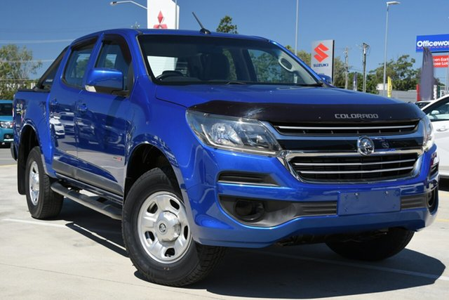 Used Holden Colorado RG MY18 LS Crew Cab Aspley, 2018 Holden Colorado RG MY18 LS Crew Cab Blue 6 Speed Sports Automatic Cab Chassis