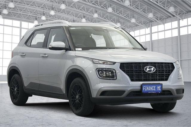 Used Hyundai Venue QX MY20 Go Victoria Park, 2020 Hyundai Venue QX MY20 Go Typhoon Silver 6 Speed Automatic Wagon