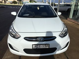 2015 Hyundai Accent RB2 Active White 4 Speed Sports Automatic Sedan.