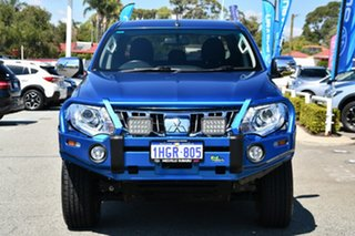 2015 Mitsubishi Triton MQ MY16 GLS Double Cab Blue 5 Speed Sports Automatic Utility