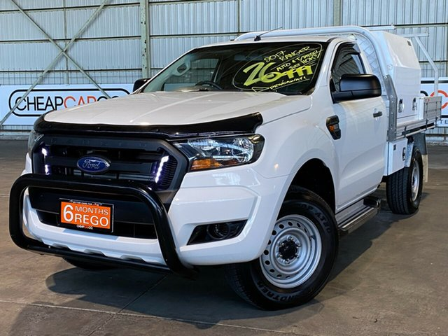 Used Ford Ranger PX MkII XL Hi-Rider Rocklea, 2017 Ford Ranger PX MkII XL Hi-Rider White 6 Speed Sports Automatic Cab Chassis