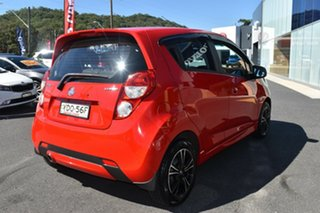 2015 Holden Barina Spark MJ MY15 CD Red 4 Speed Automatic Hatchback