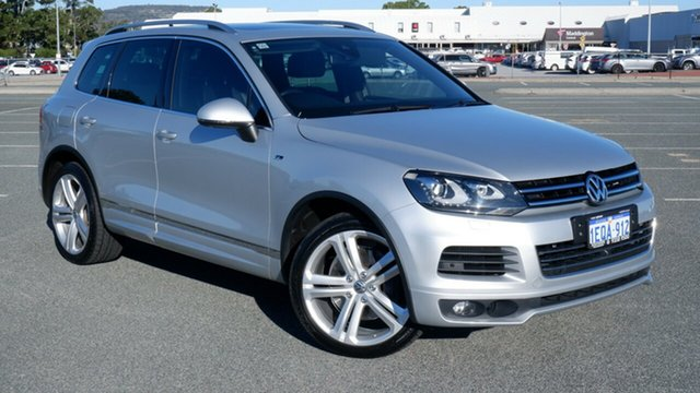 Used Volkswagen Touareg 7P MY14 V8 TDI Tiptronic 4MOTION R-Line Maddington, 2013 Volkswagen Touareg 7P MY14 V8 TDI Tiptronic 4MOTION R-Line Silver 8 Speed Sports Automatic