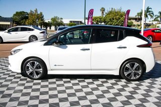 2020 Nissan Leaf ZE1 Ivory Pearl & Black Roof 1 Speed Reduction Gear Hatchback