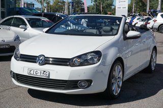 2014 Volkswagen Golf VI MY14 118TSI DSG White 7 Speed Sports Automatic Dual Clutch Cabriolet