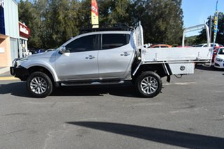 2016 Mitsubishi Triton MQ MY16 GLS Double Cab Silver 6 Speed Manual Utility