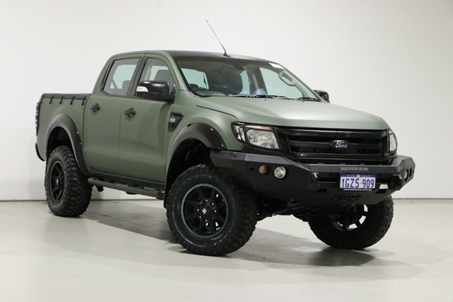 Used Ford Ranger PX XLT 3.2 (4x4) Bentley, 2014 Ford Ranger PX XLT 3.2 (4x4) Green 6 Speed Automatic Double Cab Pick Up