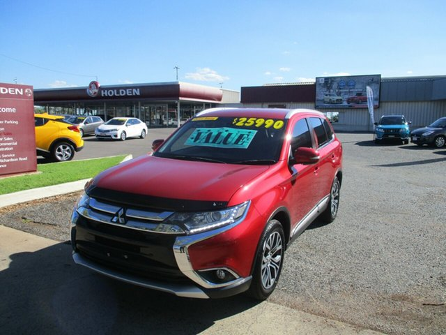 Used Mitsubishi Outlander ZK MY17 LS 2WD North Rockhampton, 2016 Mitsubishi Outlander ZK MY17 LS 2WD Red 6 Speed Constant Variable Wagon