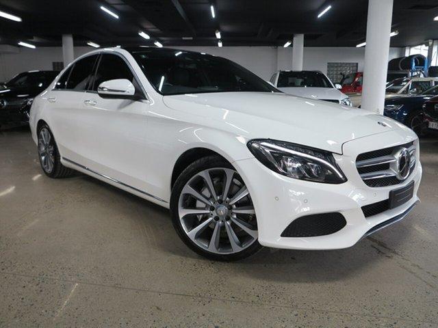 Used Mercedes-Benz C-Class W205 806+056MY C250 7G-Tronic + Albion, 2016 Mercedes-Benz C-Class W205 806+056MY C250 7G-Tronic + White 7 Speed Sports Automatic Sedan